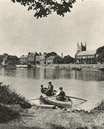 LONDON. Ferry to Isleworth and an old English inn (London Apprentice) 1926